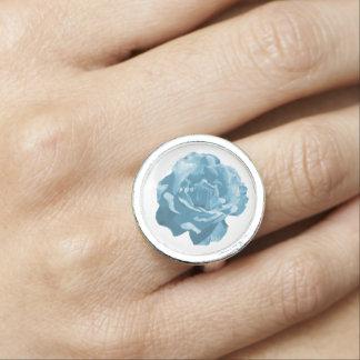 Anillos Diseño azul del rosa
