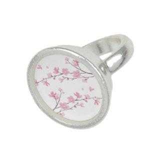 Anillos Flor de cerezo - fondo transparente