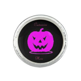 Anillos Jack rosado Halloween o'lantern Thunder_Cove