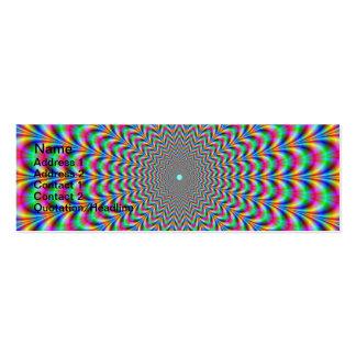 Anillos psicodélicos del zigzag tarjetas de visita mini