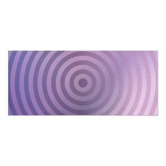 Anillos purpúreos claros invitación 10,1 x 23,5 cm