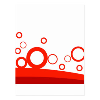 Anillos rojos sobre la foto divertida de las curva tarjeta postal