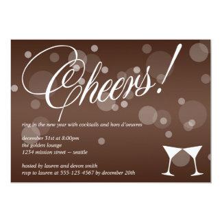 Anima el marrón de martini deslumbran la invitación 12,7 x 17,8 cm