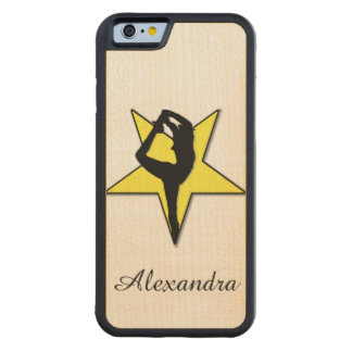 Animadora amarilla funda de iPhone 6 bumper arce