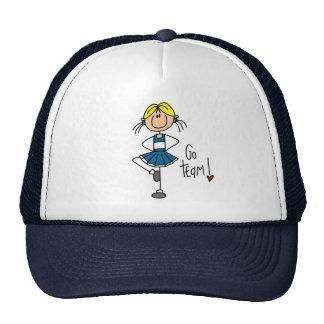 Animadora azul gorras de camionero