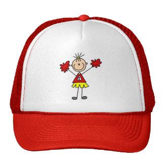 Animadora con el gorra de Pom Poms