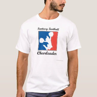 Animadora del fútbol de la fantasía camiseta