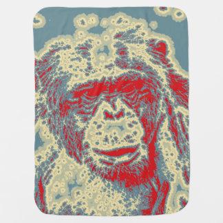 animal abstracto - chimpancé manta de bebé