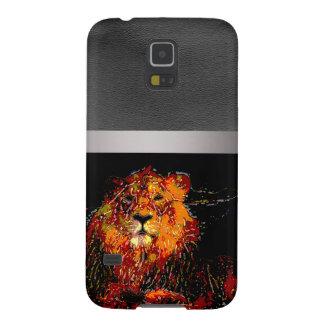 animal abstracto - león fundas de galaxy s5
