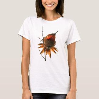 Animal de la fauna del pájaro del colibrí floral camiseta