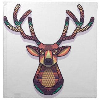 animal de los ciervos con los cuernos servilleta de tela