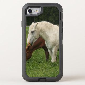 Animal del caballo blanco funda OtterBox defender para iPhone 8/7