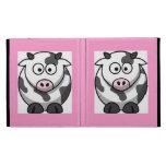Animal del campo divertido lindo de la vaca rosada