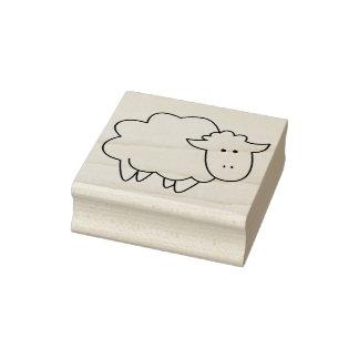 Animal del campo lindo de las ovejas del bebé del sello de caucho