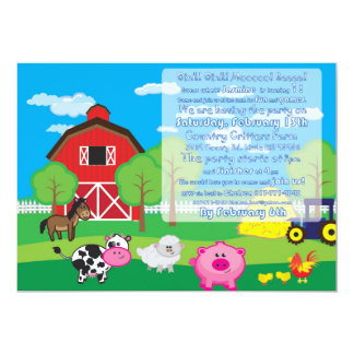 Animal del corral - granja - invitación - fiesta