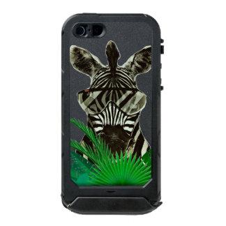 Animal del estilo de la cebra del inconformista carcasa de iphone 5 incipio atlas id