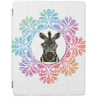 Animal del estilo de la cebra del inconformista cover de iPad