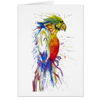 Animal del pájaro del loro tarjeta