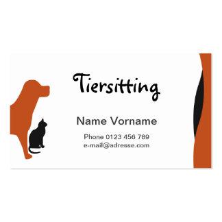 Animal doméstico plantilla de tarjeta personal