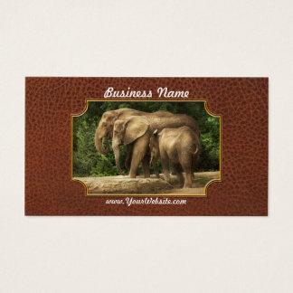 Animal - elefante - familia muy unida tarjeta de negocios