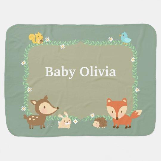 Animal elegante del arbolado para los bebés mantas de bebé