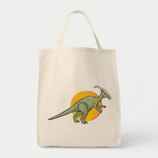 Animal jurásico del arte del Reptilia de los dinos Bolsa Tela Para La Compra