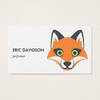 Animal lindo astuto de Emoji Tarjeta De Negocios