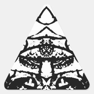 animal pegatina triangular