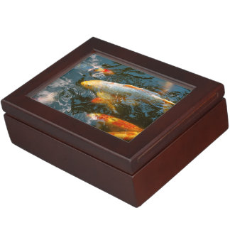 Animal - pescado - conceda la buena fortuna caja de recuerdos