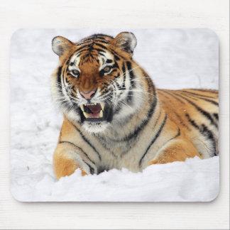 Animal salvaje personalizado del tigre alfombrilla de ratón