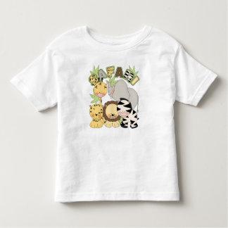 animal t de la selva del safari para los niños camiseta