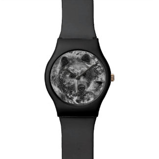 AnimalArtBW_Bear_20170604_by_JAMColors Reloj De Pulsera