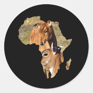 Animales africanos del ingenio del pegatina del