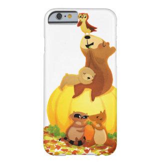 Animales de la calabaza de la acción de gracias de funda de iPhone 6 barely there