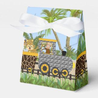 Animales de la selva del safari en caja del favor caja para regalos de fiestas