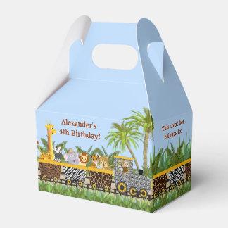 Animales de la selva del safari en caja del favor cajas para regalos de fiestas