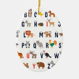 ¡Animales del alfabeto - lindo estupendo! Adorno De Cerámica
