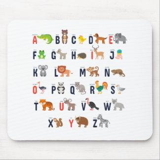 ¡Animales del alfabeto - lindo estupendo! Alfombrilla De Ratón