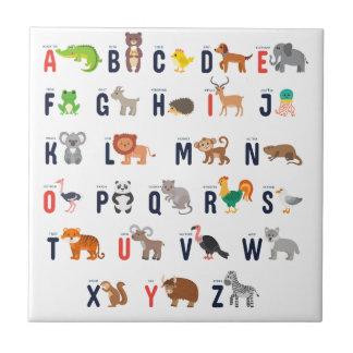 ¡Animales del alfabeto - lindo estupendo! Azulejo De Cerámica