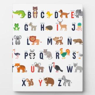 ¡Animales del alfabeto - lindo estupendo! Placa Expositora