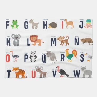 ¡Animales del alfabeto - lindo estupendo! Toalla