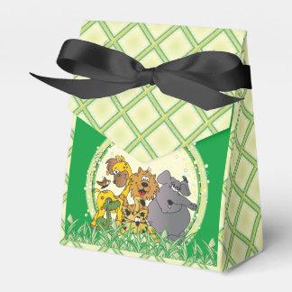Animales del bebé de la selva del safari caja para regalo de boda