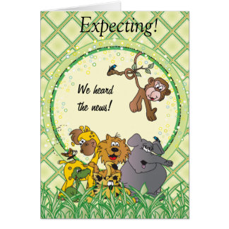 Animales del bebé de la selva del safari tarjeta de felicitación