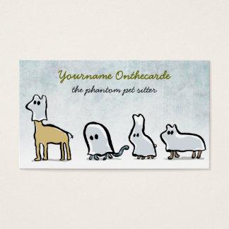 animales del fantasma (sentada del mascota) tarjeta de negocios