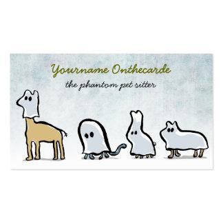 animales del fantasma (sentada del mascota) tarjetas de visita