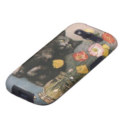 Animales del Victorian del vintage, flores lindas  Samsung Galaxy S3 Protector
