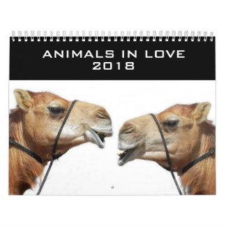 Animales en el calendario 2018 del amor el |