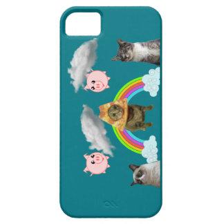 Animales en la caja del teléfono del cielo iPhone 5 fundas