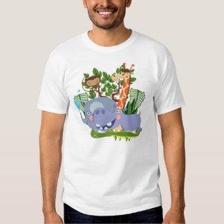 Animales lindos del safari camiseta