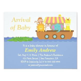 Animales lindos, fiesta de bienvenida al bebé de invitación 10,8 x 13,9 cm